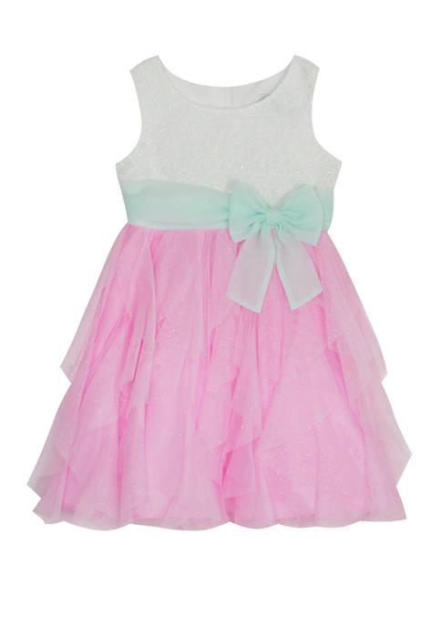 Rare Editions Toddler Girls Sleeveless Cascading Dress