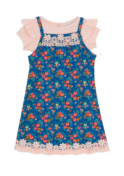 Toddler Girls Knit Jumper with T-Shirt Set