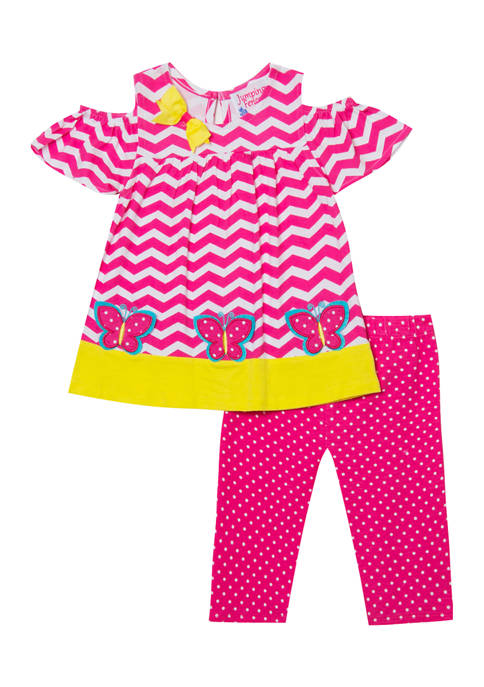 Jumping Fences by Rare Editions Toddler Girls Knit