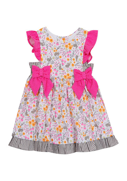 Counting Daisies Toddler Girls Easter Bunny Printed Dress