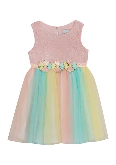 Toddler Girls Lace Top Ombré Skirt Dress