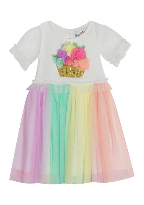 Rare Editions Toddler Girls Rib Knit to Multicolor