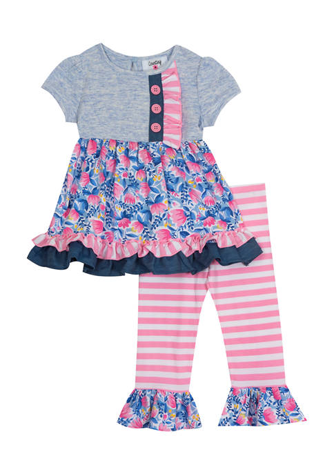 Counting Daisies Toddler Girls Heather Knit Top and
