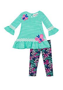 Baby Girls Blue Sweater Butterfly Set