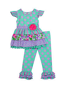 Rare Editions Baby Girls Lilac Mint Counting Daisies Set