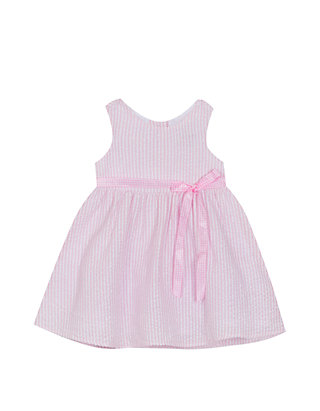 03f94f699 Rare Editions. Rare Editions Baby Girls Pink and White Seersucker Dress