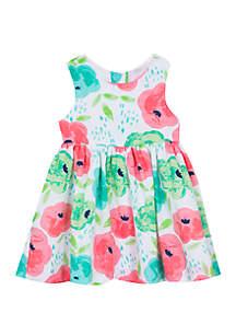 d1f1739b4d4d12 ... Rare Editions Baby Girls White Multi Floral Clip Dot Dress