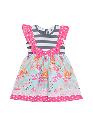 54aaae7c3517 Rare Editions. Rare Editions Baby Girls Gray and Pink Dress