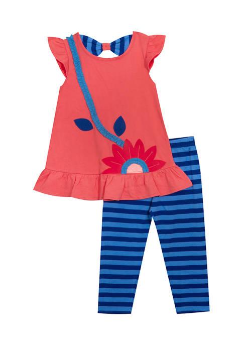 Baby Girls Printed Jersey Knit Set