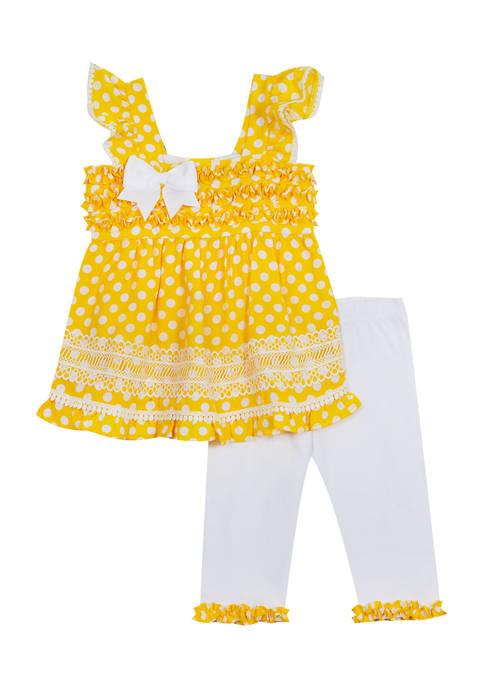 Baby Girls Dot Top and Leggings Set