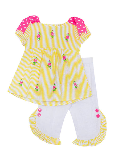 Rare Editions Baby Girls Check Seersucker Top and