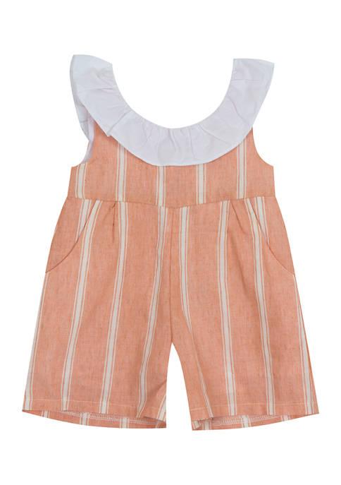 Baby Girls Yarn Dyed Stripe Romper