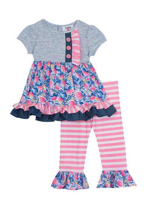 Counting Daisies Baby Girls Knit Top and Legging