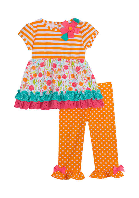 Counting Daisies Baby Girls Printed Top and Legging