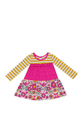 93acc6034a5f Rare Editions Baby Girls Three Tier Long Sleeve Top ...