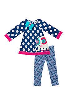Toddler Girls Dot Elephant Set