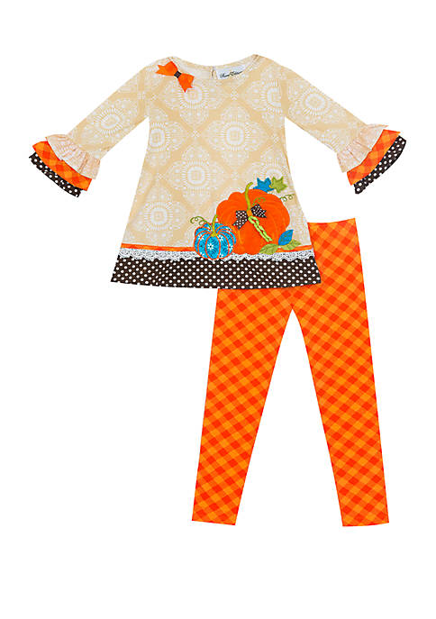 Rare Editions Toddler Girls Top and Leggings Set