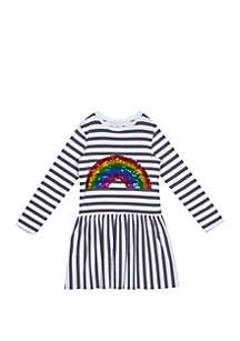 a0e5061dde202 ... Rare Editions Toddler Girls Sequin Rainbow Stripe Dress