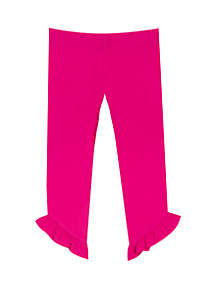 Rare Editions Toddler Girls Solid Single Ruffle Pants