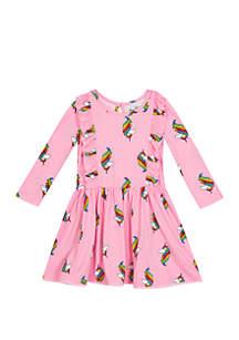 Rare Editions Toddler Girls Unicorn Yummy Dress