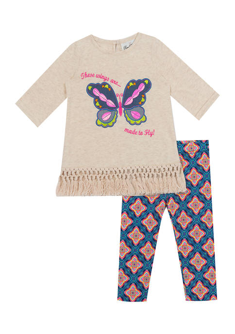 Rare Editions Toddler Girls 2 Piece Butterfly Set