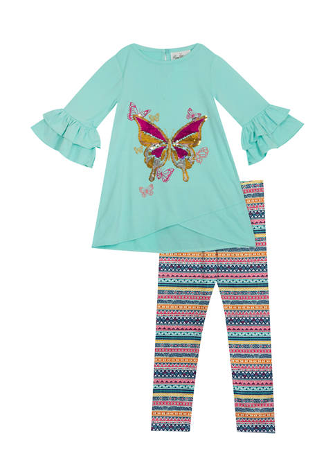 Rare Editions Toddler Girls 2 Piece Long Sleeve