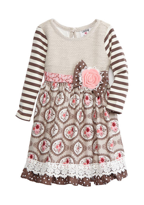 Counting Daisies Toddler Girls Long Sleeve Sweater Knit