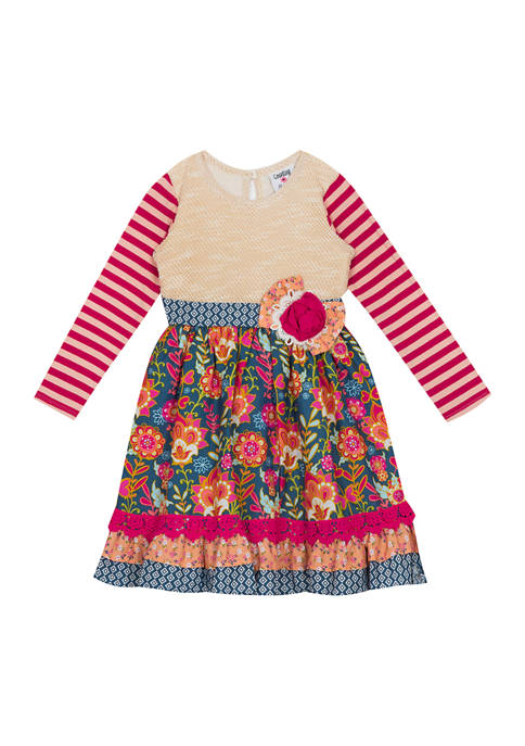 Counting Daisies Toddler Girls Sweater Knit Dress