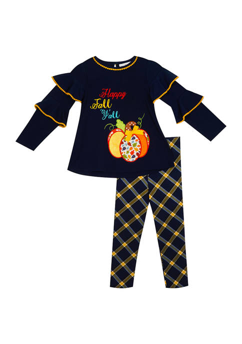 Rare Editions Toddler Girls Happy Fall Set