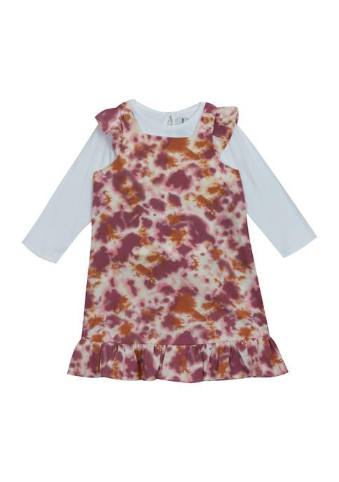 Toddler Girls Long Sleeve Tie Dye Jumper