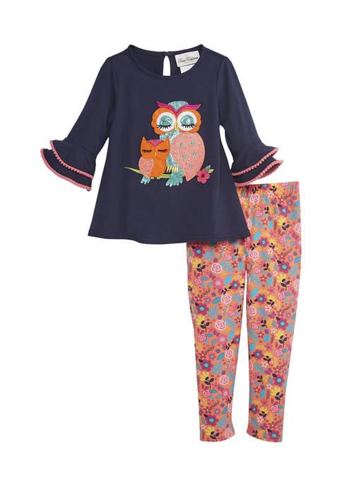 Toddler Girls Owl Leggings Set