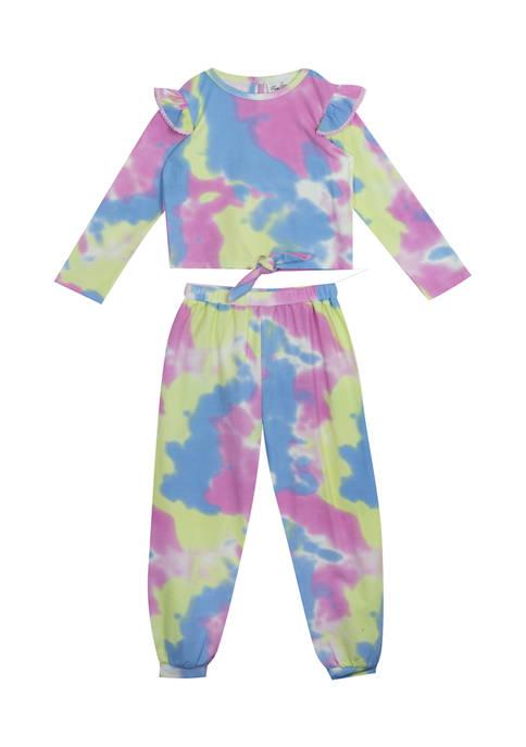 Toddler Girls Long Sleeve Tie Dye Set