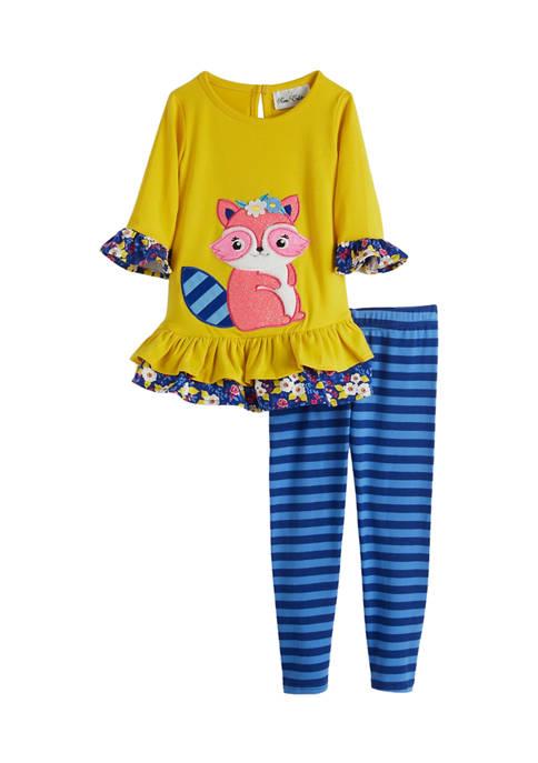 Toddler Girls Long Sleeve Fox Leggings Set