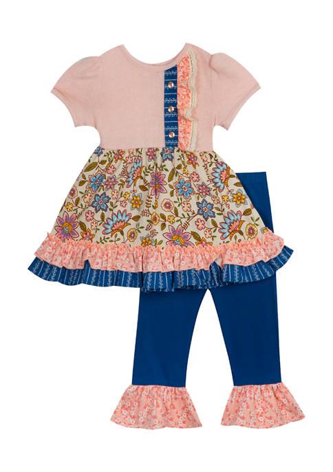 Toddler Girls Mixed Print Leggings Set