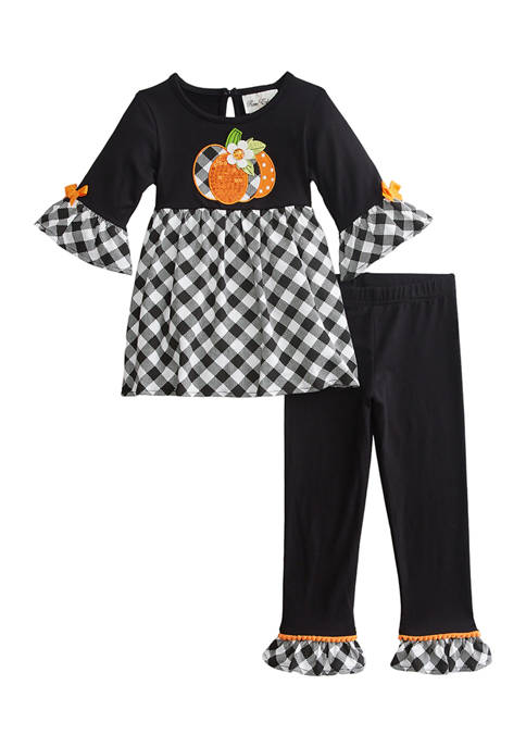 Toddler Girls Long Sleeve Pumpkin Leggings Set