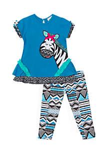 Infant Girls 2-Piece Zebra Set