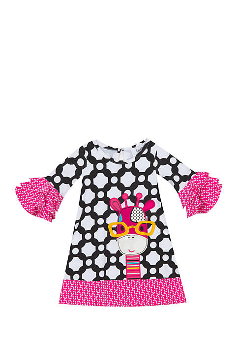 Rare Editions Infant Girls Giraffe Dress