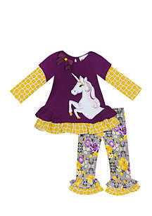 Infant Girls 2-Piece Unicorn Legging Set