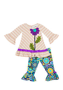 Infant Girls Floral Legging Set