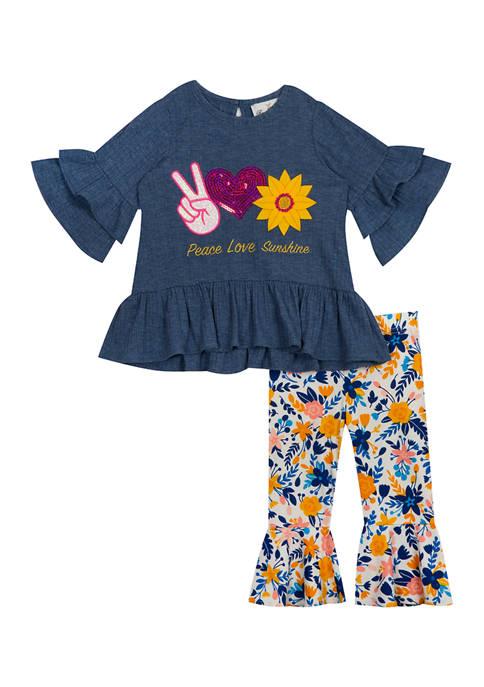 Baby Girls Peace Love Sunshine Legging Set