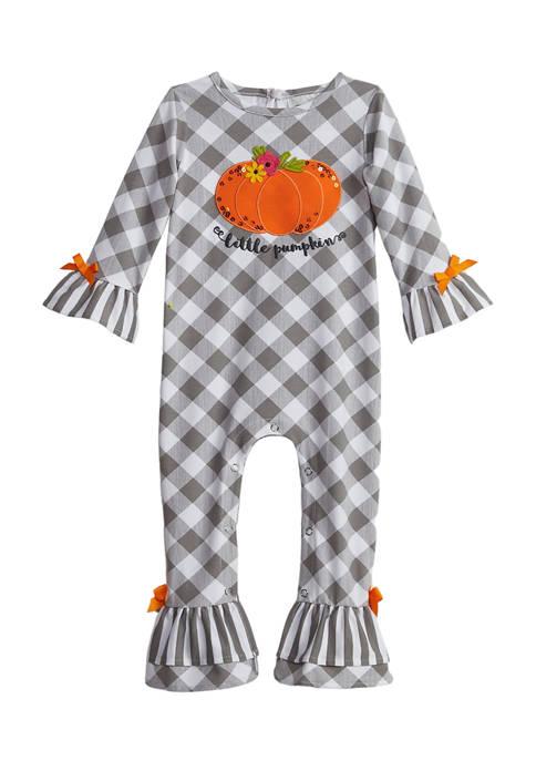 Baby Girls Pumpkin Jumpsuit