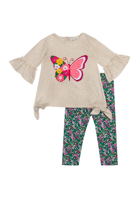 Baby Girls  Butterfly Appliqué Set