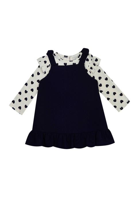 Baby Girls Polka Dot Long Sleeve Dress