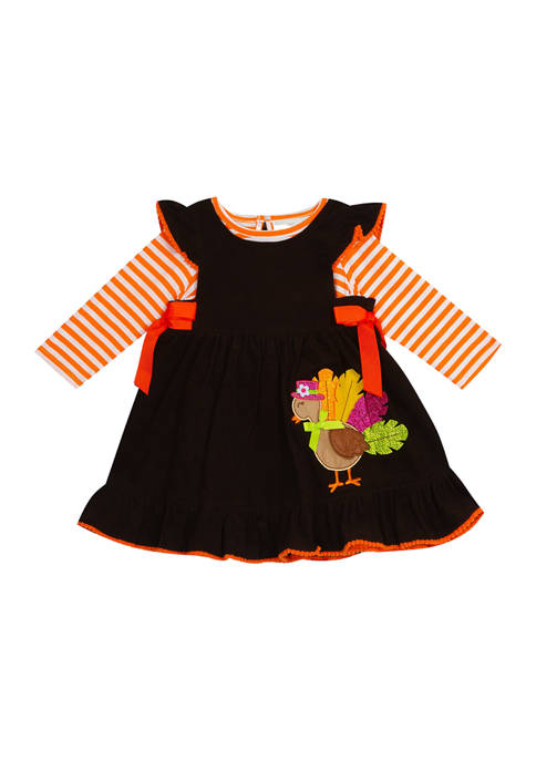 Baby Girls Turkey Jumper with Long Sleeve Top