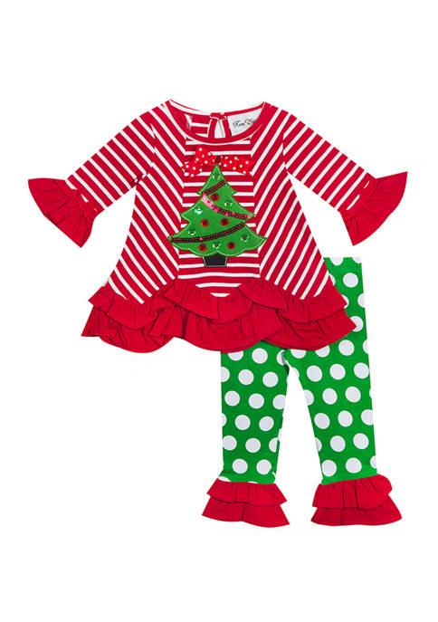Rare Editions Baby Girls 2 Piece Christmas Tree