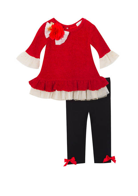 Rare Editions Baby Girls 2 Piece Dressy Top