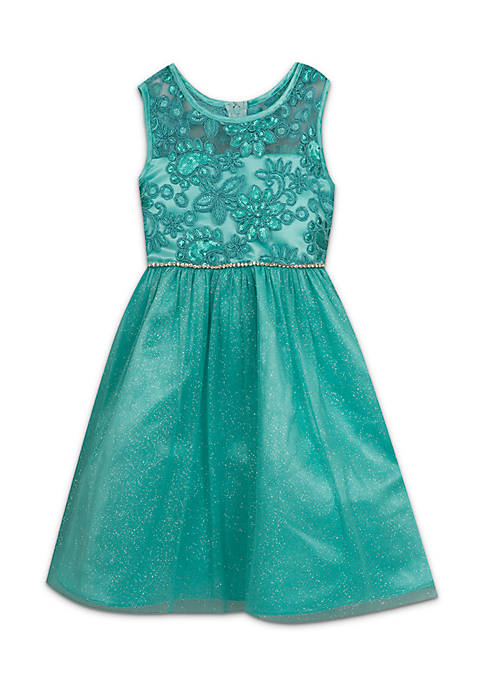 Rare Editions Toddler Girls Social Lace Bodice Dress