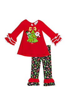 Toddler Girls Tree and Friends Ruffle Set