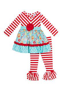 Toddler Girls Mixed Media Gingerbread Set