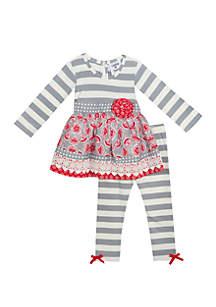 Baby Girls Grey Red Set